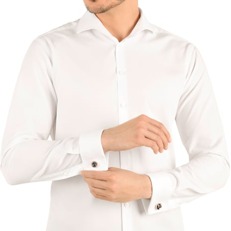 Round 袖扣, 灰色, 鍍玫瑰金色調 - Swarovski, 5429900