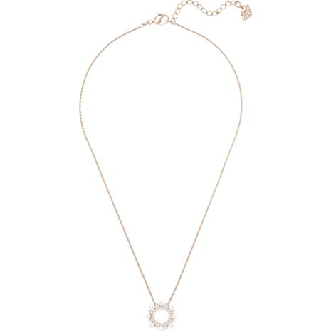 Major Pendant, White, Rose-gold tone plated - Swarovski, 5429963