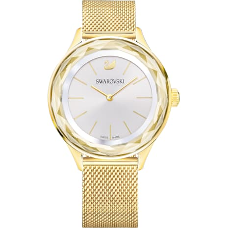 Montre Octea Nova, Bracelet à maille milanaise, PVD doré - Swarovski, 5430417