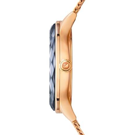 Montre Octea Nova, Bracelet à maille milanaise, noir, PVD doré rose - Swarovski, 5430424