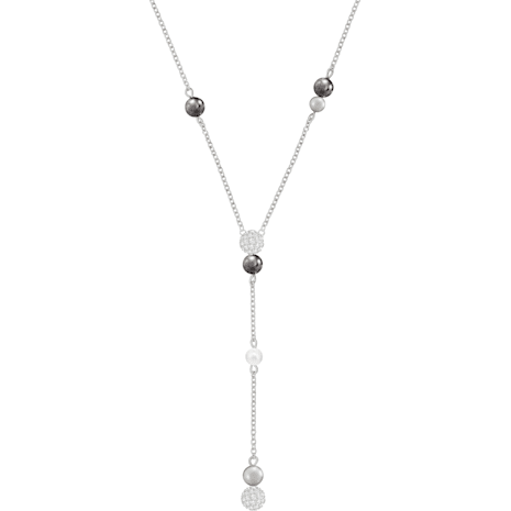 Canopy Y Necklace, Multi-colored, Rhodium plated - Swarovski, 5430886