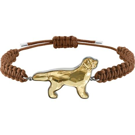 Pets Retriever Bracelet, Golden, Rhodium plated - Swarovski, 5431410