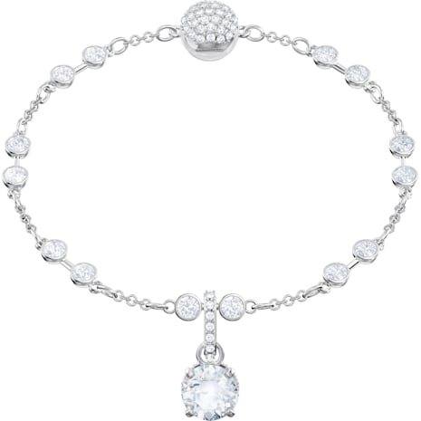 Swarovski Remix Collection Charm, April, White, Rhodium plated - Swarovski, 5437320