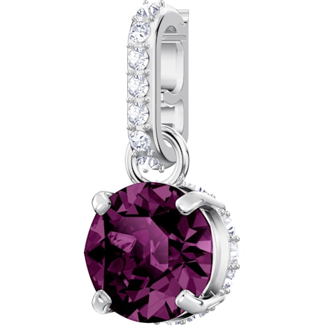 Swarovski Remix Collection Charm, 二月, 紫色, 鍍白金色 - Swarovski, 5437323