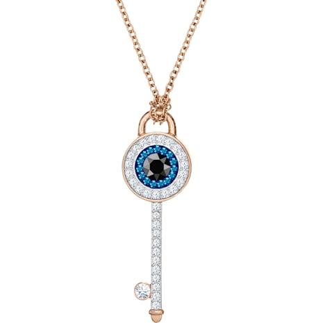 Swarovski Symbolic Evil Eye Pendant, Multi-colored, Rose-gold tone plated - Swarovski, 5437517