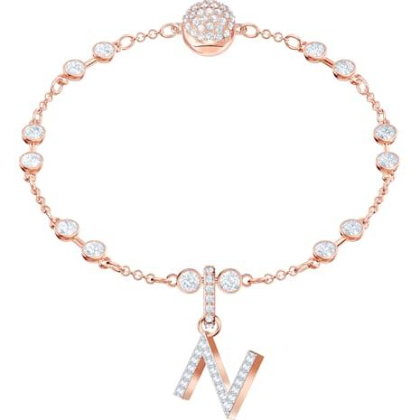 Swarovski Remix Collection Charm N, weiss, Rosé vergoldet - Swarovski, 5437623