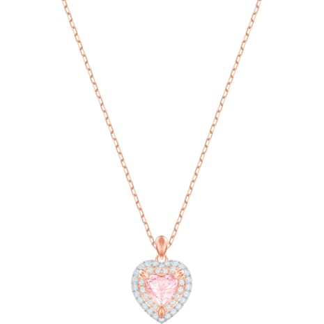 One Pendant, Multi-coloured, Rose-gold tone plated - Swarovski, 5439314
