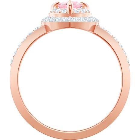 Anello One, multicolore, Placcato oro rosa - Swarovski, 5439315