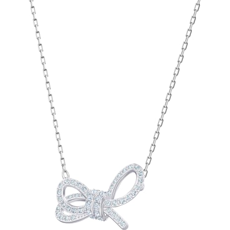 Collier Lifelong Bow, blanc, Métal rhodié - Swarovski, 5440643