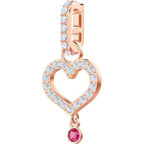 Swarovski Remix Collection Heart Charm, 白色, 鍍玫瑰金色調 - Swarovski, 5441398
