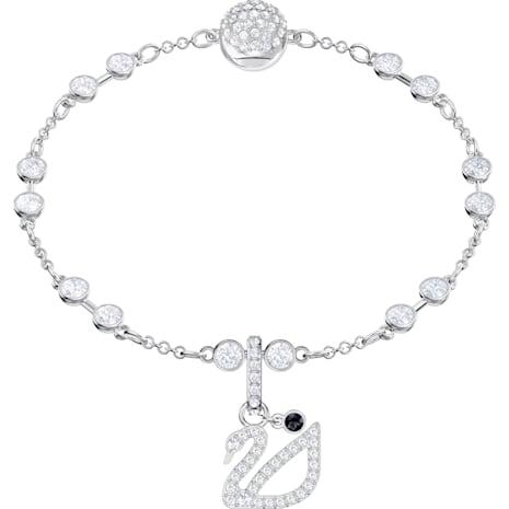 Swarovski Remix Collection Swan Charm, blanc, Métal rhodié - Swarovski, 5443940