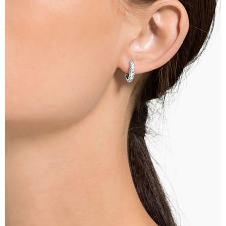 Stone 穿孔耳環, 白色, 鍍白金色 - Swarovski, 5446004