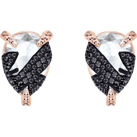 Make Pierced Earrings, Multi-colored, Rose-gold tone plated - Swarovski, 5446241