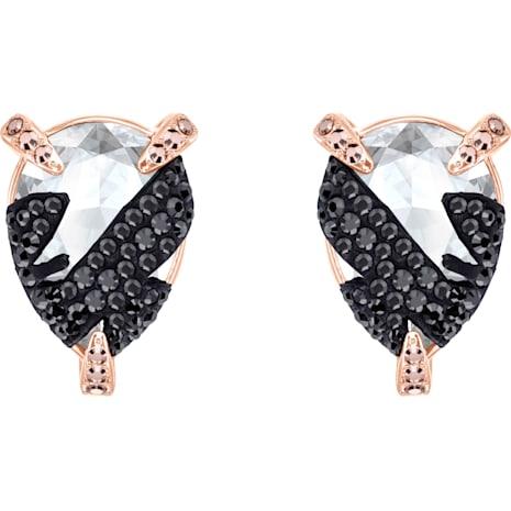 Make Pierced Earrings, Multi-coloured, Rose-gold tone plated - Swarovski, 5446241