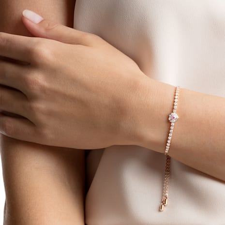 One Bracelet, Multi-coloured, Rose-gold tone plated - Swarovski, 5446299
