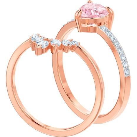 One 套裝, 多色設計, 鍍玫瑰金色調 - Swarovski, 5446302