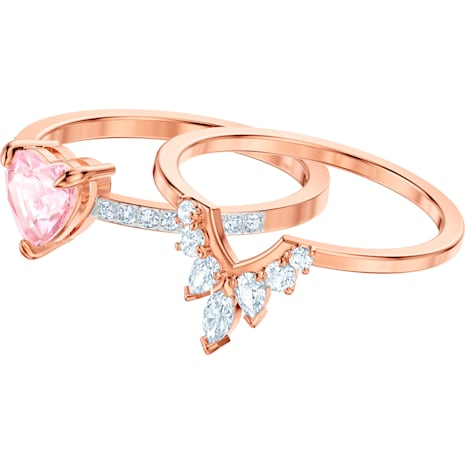 Set One, multicolore, Placcato oro rosa - Swarovski, 5446302