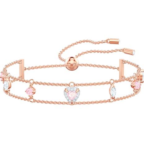 One Armband, mehrfarbig, Rosé vergoldet - Swarovski, 5446304