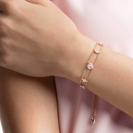 Braccialetto One, multicolore, Placcato oro rosa - Swarovski, 5446304