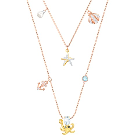Ocean Necklace, Multi-colored, Mixed plating - Swarovski, 5446664