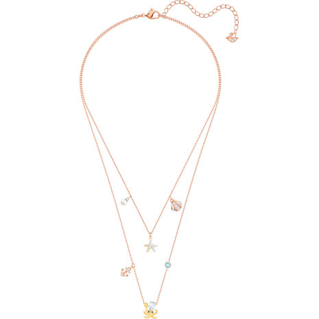 Ocean Necklace, Multi-coloured, Mixed plating - Swarovski, 5446664
