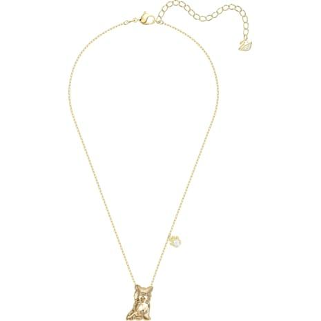 Pets Yorkshire Necklace, Golden, Gold-tone plated - Swarovski, 5446987