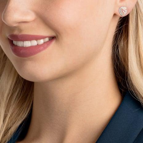Boucles d'oreilles clous One, multicolore, Métal doré rose - Swarovski, 5446995