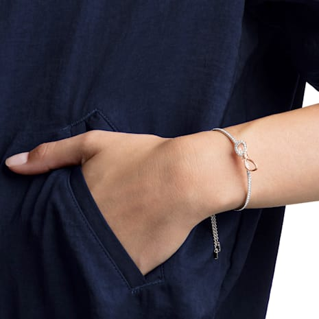 Lifelong Bow 手鐲, 白色, 多種金屬潤飾 - Swarovski, 5447079