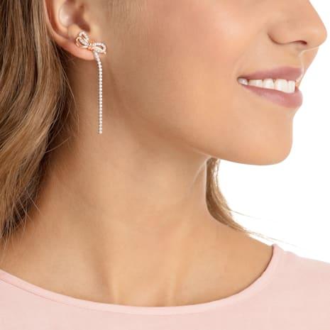 Boucles d'oreilles Lifelong Bow, blanc, Finition mix de métal - Swarovski, 5447083