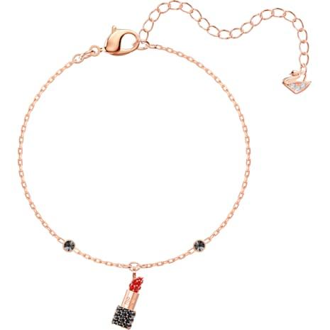 Mine Lipstick Bracelet, Multi-coloured, Rose-gold tone plated - Swarovski, 5448423