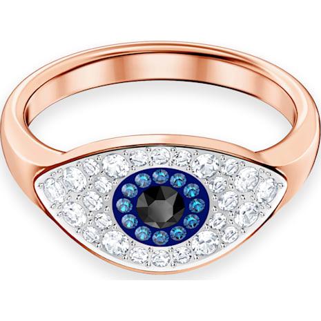 Swarovski Symbolic Evil Eye 링, 멀티컬러, 로즈골드 톤 플래팅 - Swarovski, 5448837