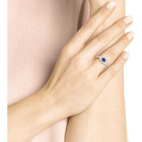 Swarovski Symbolic Evil Eye Ring, Multi-colored, Rose-gold tone plated - Swarovski, 5448837