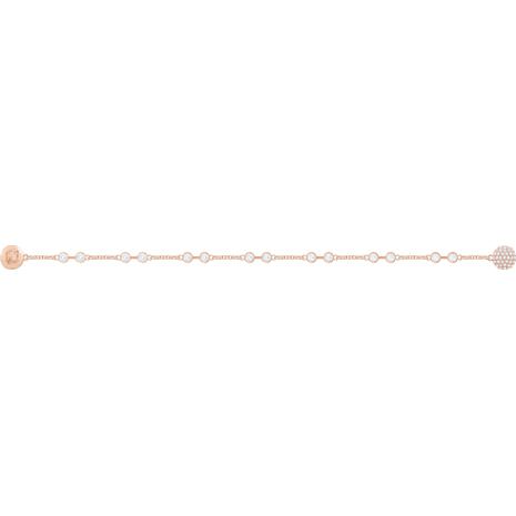 Swarovski Remix Collection Carrier, White, Rose-gold tone plated - Swarovski, 5451032