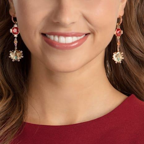 Lucky Goddess Shell Pierced Earrings, Multi-coloured, Gold-tone plated - Swarovski, 5451301