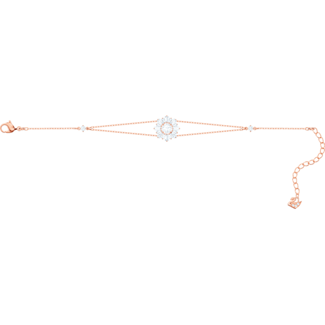 Sunshine Bracelet, White, Rose-gold tone plated - Swarovski, 5451357