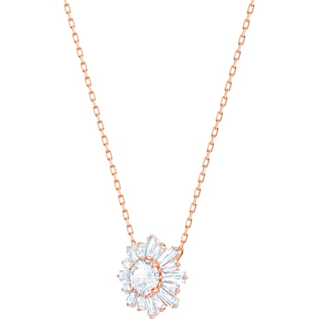 Sunshine Pendant, White, Rose-gold tone plated - Swarovski, 5451376