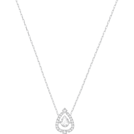 Collar Swarovski Sparkling Dance Pear, blanco, Baño de Rodio - Swarovski, 5451992