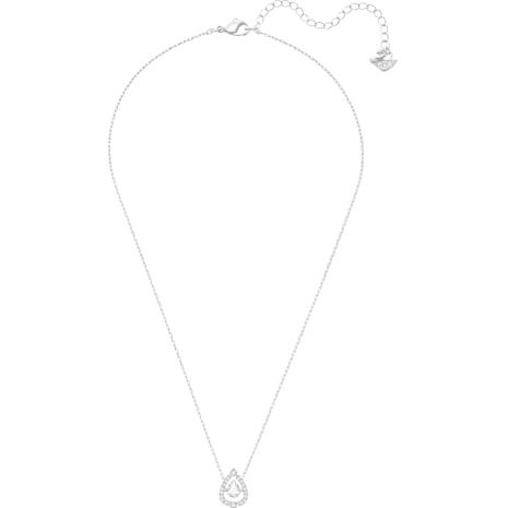 Swarovski Sparkling Dance Pear Колье, Белый Кристалл, Родиевое покрытие - Swarovski, 5451992