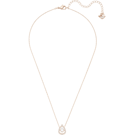 Swarovski Sparkling Dance Pear Колье, Белый Кристалл, Покрытие оттенка розового золота - Swarovski, 5451993