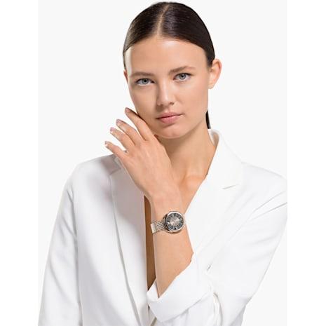 Crystalline Glam Watch, Metal bracelet, Grey, Champagne-gold tone PVD - Swarovski, 5452462