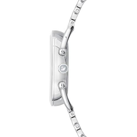 Crystalline Glam Watch, Metal bracelet, Grey, Stainless steel - Swarovski, 5452468