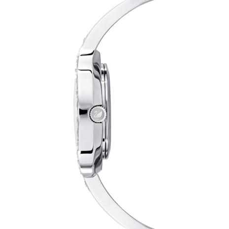 Lovely Crystals Bangle Saat, Metal bileklik, Beyaz, Paslanmaz çelik - Swarovski, 5452492