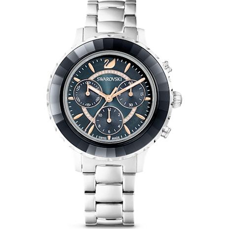 Octea Lux Chrono Saat, Metal bileklik, Siyah, Paslanmaz çelik - Swarovski, 5452504