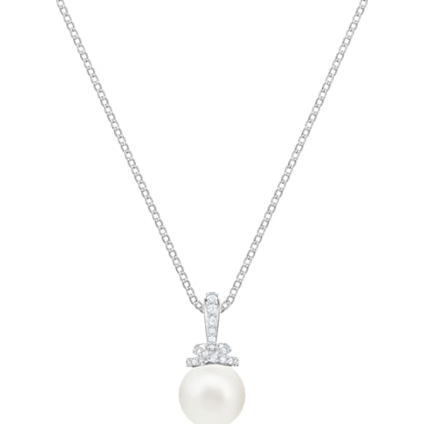 Originally Pendant, White, Rhodium plated - Swarovski, 5452584