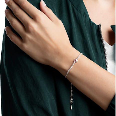 One Armband, rot, Rhodiniert - Swarovski, 5456813