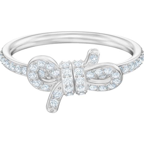 Lifelong Ring, klein, weiss, Rhodiniert - Swarovski, 5457269
