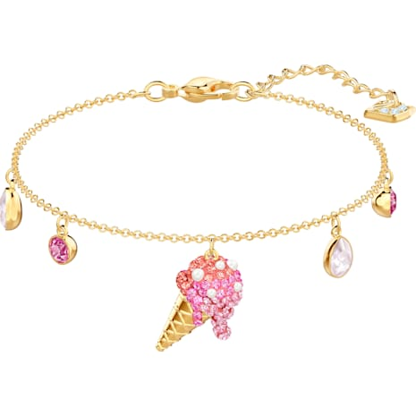 Pulsera No Regrets Ice Cream, multicolor, Baño en tono Oro - Swarovski, 5457498