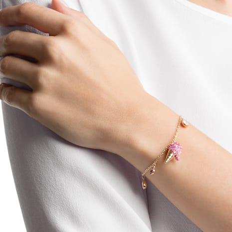 No Regrets Ice Cream Armband, mehrfarbig, vergoldet - Swarovski, 5457498