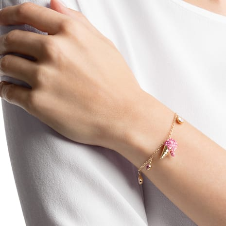 No Regrets Ice Cream Bracelet, Multi-colored, Gold-tone plated - Swarovski, 5457498