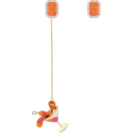 Pendientes No Regrets Cocktail, multicolor, Baño en tono Oro - Swarovski, 5457499